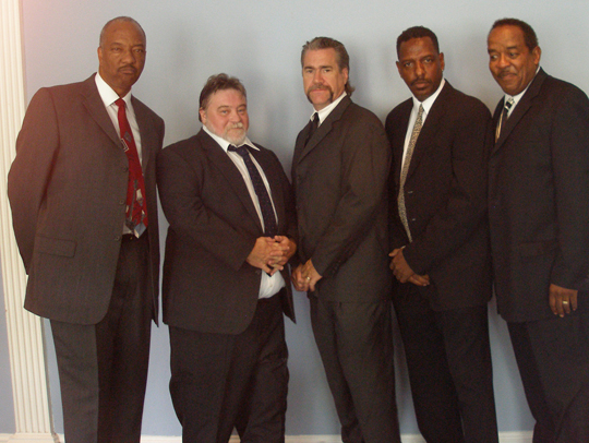 R&B group Wallstreet. Second from right is founder Odell Mickens.
